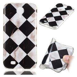 Black and White Matching Soft TPU Marble Pattern Phone Case for Samsung Galaxy S4