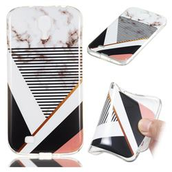 Pinstripe Soft TPU Marble Pattern Phone Case for Samsung Galaxy S4