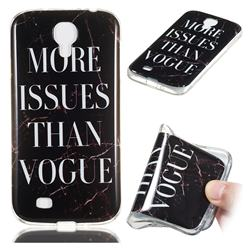 Stylish Black Soft TPU Marble Pattern Phone Case for Samsung Galaxy S4