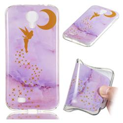 Elf Purple Soft TPU Marble Pattern Phone Case for Samsung Galaxy S4