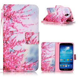 Plum Flower Leather Wallet Phone Case for Samsung Galaxy S4