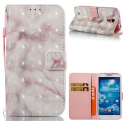 Beige Marble 3D Painted Leather Wallet Case for Samsung Galaxy S4