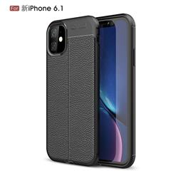 Luxury Auto Focus Litchi Texture Silicone TPU Back Cover for iPhone 11 (6.1 inch) - Black