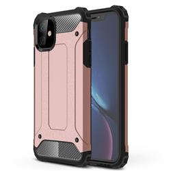 King Kong Armor Premium Shockproof Dual Layer Rugged Hard Cover for iPhone 11 (6.1 inch) - Rose Gold