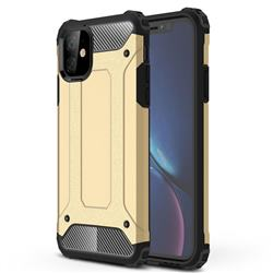 King Kong Armor Premium Shockproof Dual Layer Rugged Hard Cover for iPhone 11 (6.1 inch) - Champagne Gold