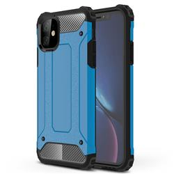 King Kong Armor Premium Shockproof Dual Layer Rugged Hard Cover for iPhone 11 (6.1 inch) - Sky Blue