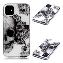Skull Rose Super Clear Soft TPU Back Cover for iPhone 11 (6.1 inch)