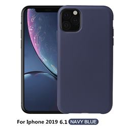 Howmak Slim Liquid Silicone Rubber Shockproof Phone Case Cover for iPhone 11 (6.1 inch) - Midnight Blue