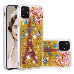 Golden Tower Dynamic Liquid Glitter Quicksand Soft TPU Case for iPhone 11 (6.1 inch)