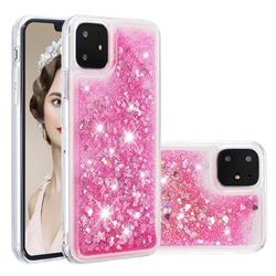 Dynamic Liquid Glitter Quicksand Sequins TPU Phone Case for iPhone 11 (6.1 inch) - Rose