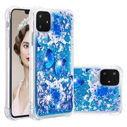 Flower Butterfly Dynamic Liquid Glitter Sand Quicksand Star TPU Case for iPhone 11 (6.1 inch)