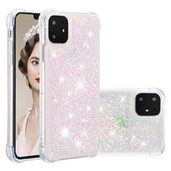 Dynamic Liquid Glitter Sand Quicksand TPU Case for iPhone 11 (6.1 inch) - Silver Powder Star
