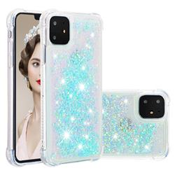 Dynamic Liquid Glitter Sand Quicksand TPU Case for iPhone 11 (6.1 inch) - Silver Blue Star