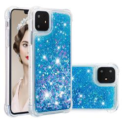 Dynamic Liquid Glitter Sand Quicksand TPU Case for iPhone 11 (6.1 inch) - Blue Love Heart