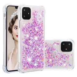 Dynamic Liquid Glitter Sand Quicksand Star TPU Case for iPhone 11 (6.1 inch) - Rose
