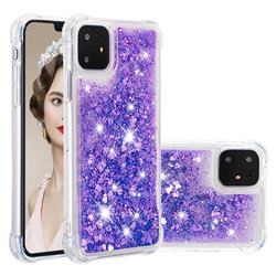 Dynamic Liquid Glitter Sand Quicksand Star TPU Case for iPhone 11 (6.1 inch) - Purple