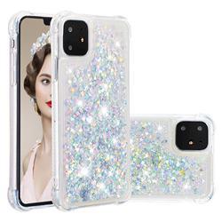 Dynamic Liquid Glitter Sand Quicksand Star TPU Case for iPhone 11 (6.1 inch) - Silver
