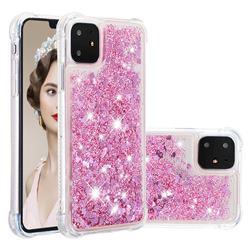 Dynamic Liquid Glitter Sand Quicksand Star TPU Case for iPhone 11 (6.1 inch) - Diamond Rose