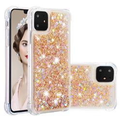 Dynamic Liquid Glitter Sand Quicksand Star TPU Case for iPhone 11 (6.1 inch) - Diamond Gold