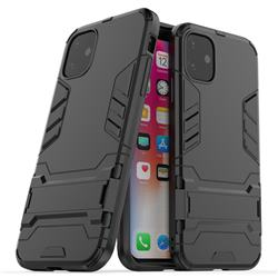 Armor Premium Tactical Grip Kickstand Shockproof Dual Layer Rugged Hard Cover for iPhone 11 (6.1 inch) - Black