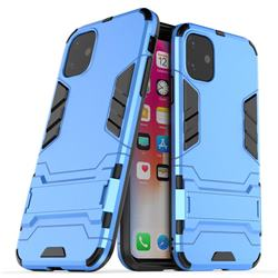 Armor Premium Tactical Grip Kickstand Shockproof Dual Layer Rugged Hard Cover for iPhone 11 (6.1 inch) - Light Blue