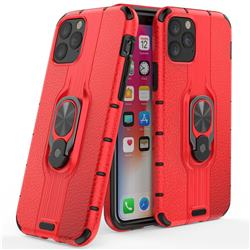 Alita Battle Angel Armor Metal Ring Grip Shockproof Dual Layer Rugged Hard Cover for iPhone 11 (6.1 inch) - Red