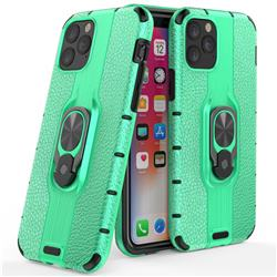 Alita Battle Angel Armor Metal Ring Grip Shockproof Dual Layer Rugged Hard Cover for iPhone 11 (6.1 inch) - Green