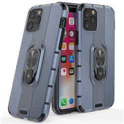 Alita Battle Angel Armor Metal Ring Grip Shockproof Dual Layer Rugged Hard Cover for iPhone 11 (6.1 inch) - Blue