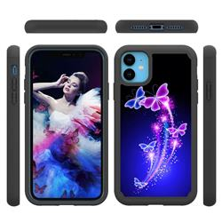 Dancing Butterflies Shock Absorbing Hybrid Defender Rugged Phone Case Cover for iPhone 11 (6.1 inch)