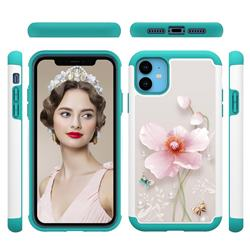 Pearl Flower Shock Absorbing Hybrid Defender Rugged Phone Case Cover for iPhone 11 (6.1 inch)