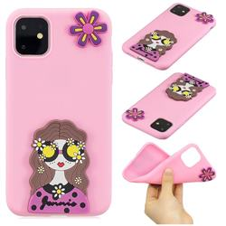 Violet Girl Soft 3D Silicone Case for iPhone 11 (6.1 inch)