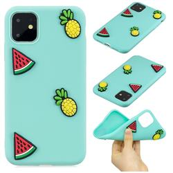 Watermelon Pineapple Soft 3D Silicone Case for iPhone 11 (6.1 inch)