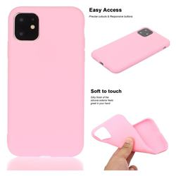 Soft Matte Silicone Phone Cover for iPhone 11 (6.1 inch) - Rose Red