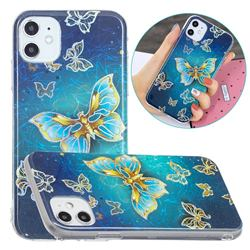 Golden Butterfly Painted Galvanized Electroplating Soft Phone Case Cover for iPhone 11 (6.1 inch)