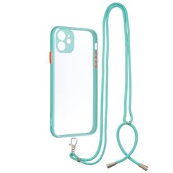 Necklace Cross-body Lanyard Strap Cord Phone Case Cover for iPhone 11 (6.1 inch) - Blue