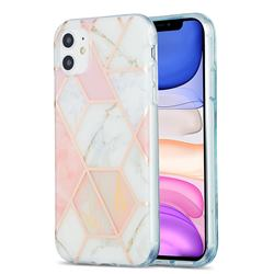 Pink White Marble Pattern Galvanized Electroplating Protective Case Cover for iPhone 11 (6.1 inch)