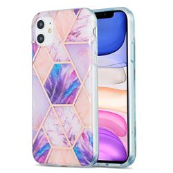 Purple Dream Marble Pattern Galvanized Electroplating Protective Case Cover for iPhone 11 (6.1 inch)