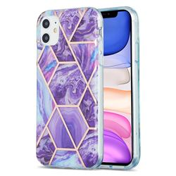 Purple Gagic Marble Pattern Galvanized Electroplating Protective Case Cover for iPhone 11 (6.1 inch)
