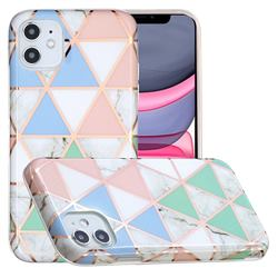Fresh Triangle Painted Marble Electroplating Protective Case for iPhone 11 (6.1 inch)