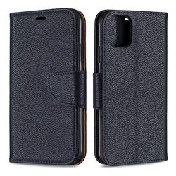 Classic Luxury Litchi Leather Phone Wallet Case for iPhone 11 - Black