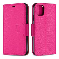 Classic Luxury Litchi Leather Phone Wallet Case for iPhone 11 - Rose