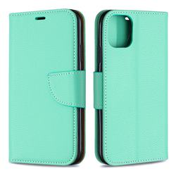 Classic Luxury Litchi Leather Phone Wallet Case for iPhone 11 - Green