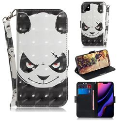 Angry Bear 3D Painted Leather Wallet Phone Case for iPhone 11 (6.1 inch)