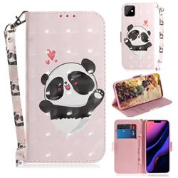 Heart Cat 3D Painted Leather Wallet Phone Case for iPhone 11 (6.1 inch)
