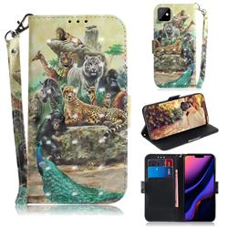 Beast Zoo 3D Painted Leather Wallet Phone Case for iPhone 11 (6.1 inch)