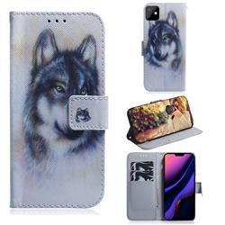 Snow Wolf PU Leather Wallet Case for iPhone 11 (6.1 inch)