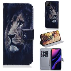 Lion Face PU Leather Wallet Case for iPhone 11 (6.1 inch)