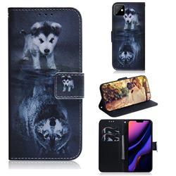 Wolf and Dog PU Leather Wallet Case for iPhone 11 (6.1 inch)