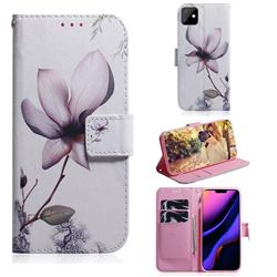 Magnolia Flower PU Leather Wallet Case for iPhone 11 (6.1 inch)