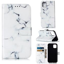 Soft White Marble PU Leather Wallet Case for iPhone 11 (6.1 inch)
